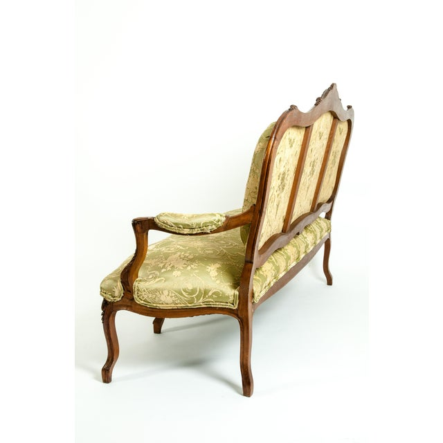 Green Mid-19th Century Mahogany Wood Frame Salon Suite - 3 Pc. Set For Sale - Image 8 of 13