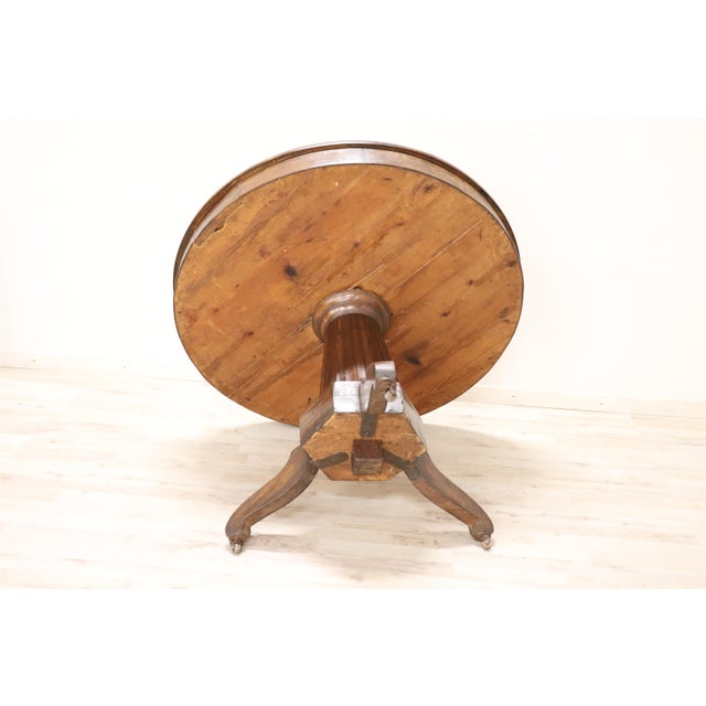 19th Century Empire Walnut Round Centre Table For Sale - Image 10 of 12