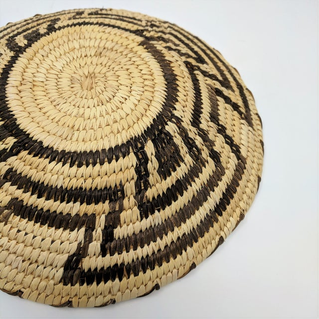 Brown 20th Century Native American Tohono O'odham Woven Basket For Sale - Image 8 of 9