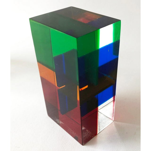 Modern 1970s Merle Edelman Acrylic Layered Sculpture For Sale - Image 3 of 7