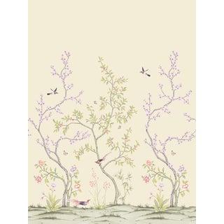Chinoiserie Garden, Citrine Wallpaper For Sale