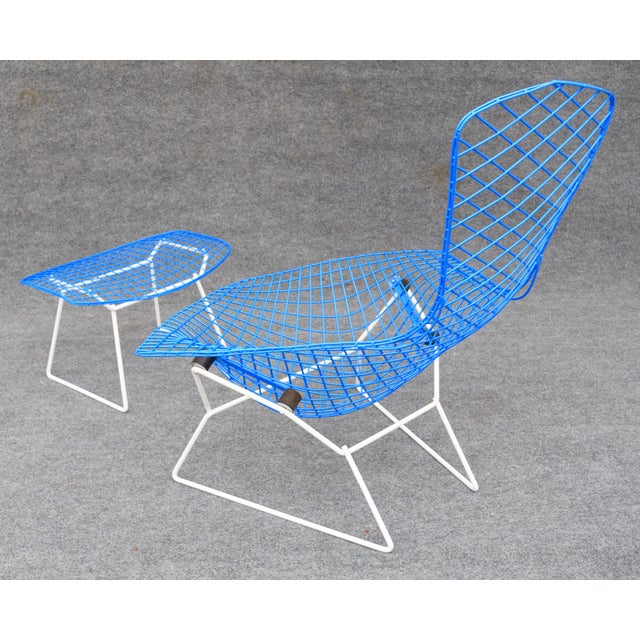 "Chrome Mid-Century Modern ""Bird"" Chair & Ottoman For Sale - Image 7 of 10"