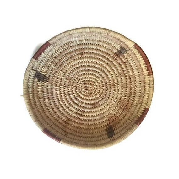 Vintage Native American Tohono Woven Basket For Sale - Image 4 of 11
