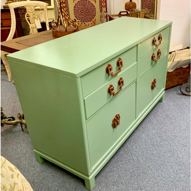 Metal 1960s Landstrom Furniture Co. Chinese Chippendale Sideboard For Sale - Image 7 of 13