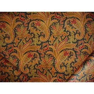Traditional Ralph Lauren Whittington Paisley Peacock Velvet Upholstery Fabric - 3y For Sale
