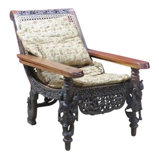 Anglo-Indian 19th Century Burmese Style Lolling Chair