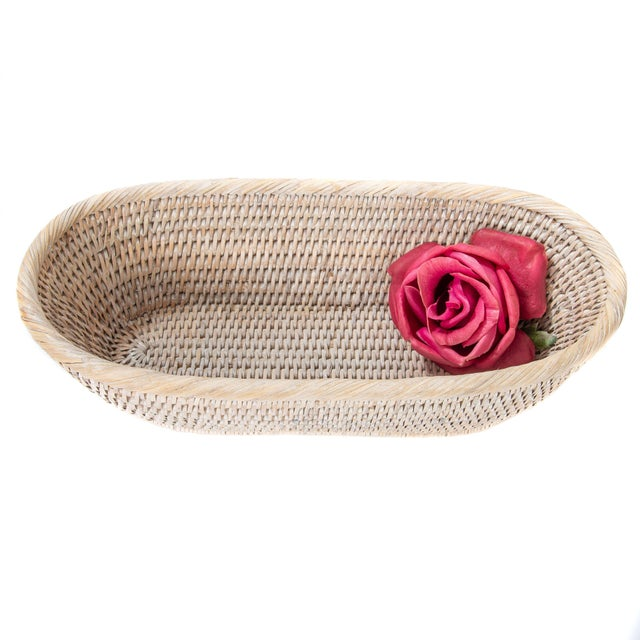 Artifacts Rattan Oval Basket For Sale - Image 4 of 6