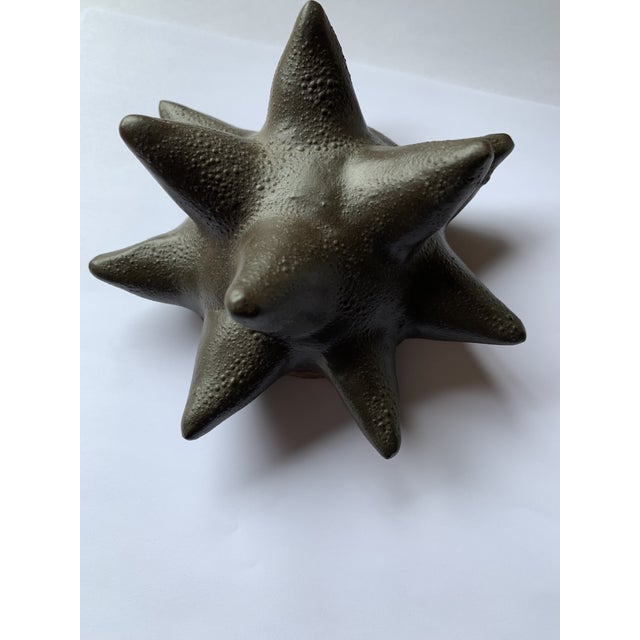 Mid 20th Century Vintage Mid-Century Black Ceramic Paperweight / Sculpture For Sale - Image 5 of 5