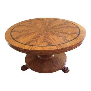 1830-1840 Antique English, Wm. IV Sandalwood Center Table For Sale