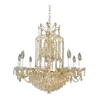 Vintage Schonbek La Scala Empire Collection Original Design Swarovski Chandelier For Sale