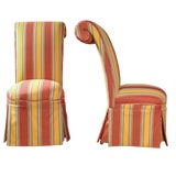 Image of Late 19th Century Vintage French Napoleon III High Back Chairs- a Pair For Sale