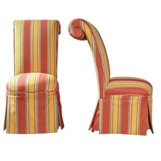 Late 19th Century Vintage French Napoleon III High Back Chairs- a Pair For Sale