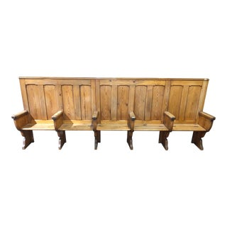 Antique Wood Church Pew For Sale