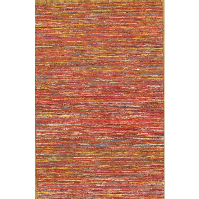 Pasargad Modern Collection Red Silk Rug - 6' x 9' - Image 2 of 3