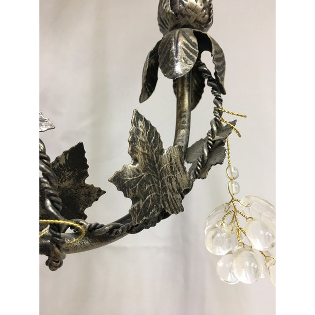 Contemporary Floral John Richard 3 Arm Chandelier For Sale - Image 4 of 9