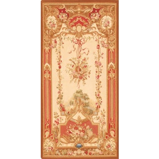 "Pasargad Tapestry Silk & Wool Rug - 3'5"" X 7' For Sale"