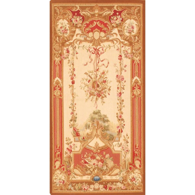 """Pasargad Tapestry Silk & Wool Rug - 3'5"""" X 7' For Sale"""