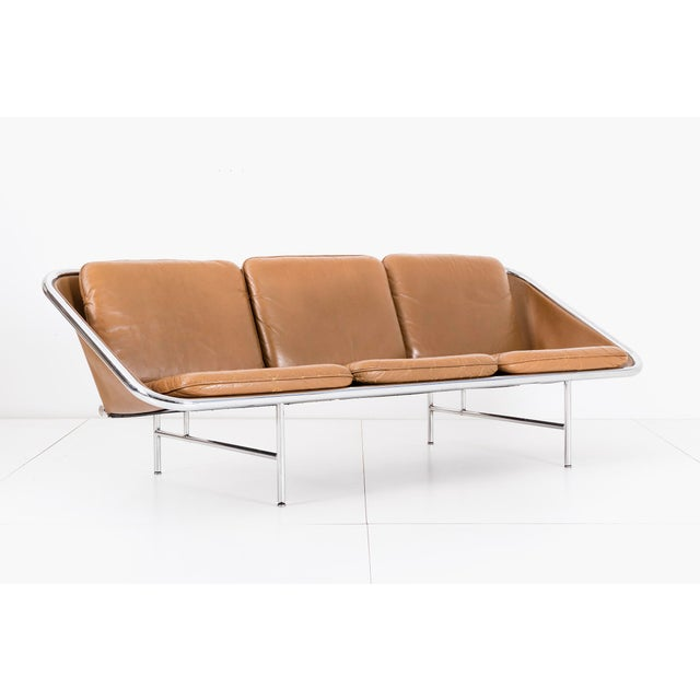 Model 6832 designed in 1963 by George Nelson & Associates for Herman Miller. Chrome-plated tubular steel frame with...