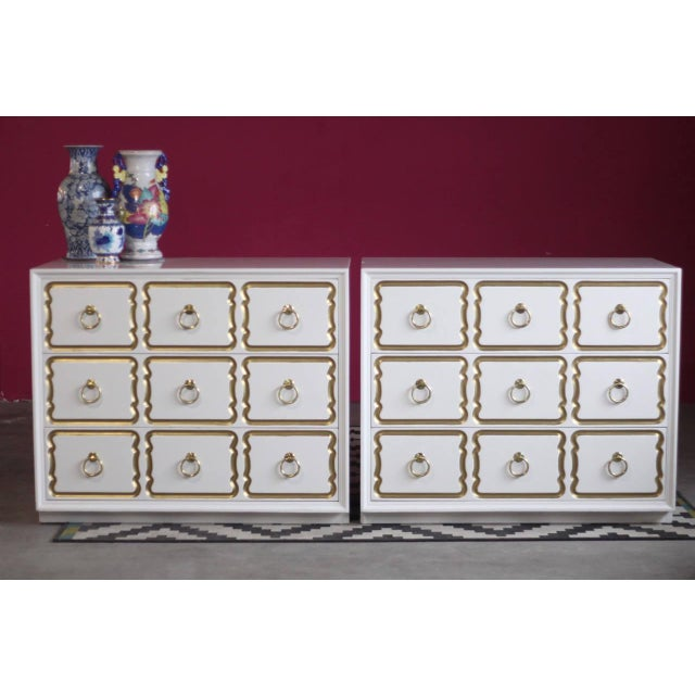 Dorothy Draper Espana Chests Lacquered in Creamy White - a Pair For Sale - Image 11 of 11