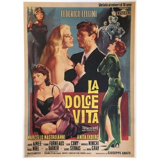 "Original ""La Dolce Vita"" Film Poster, 1960 For Sale"