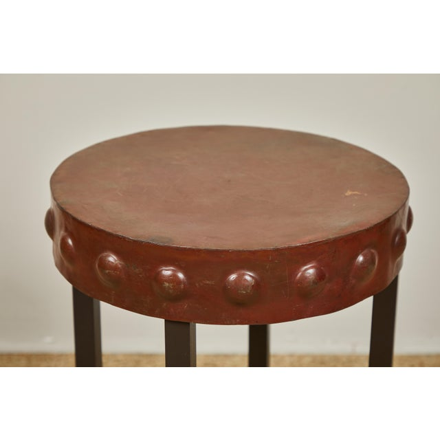 Metal Primitive Iron Side Tables For Sale - Image 7 of 9
