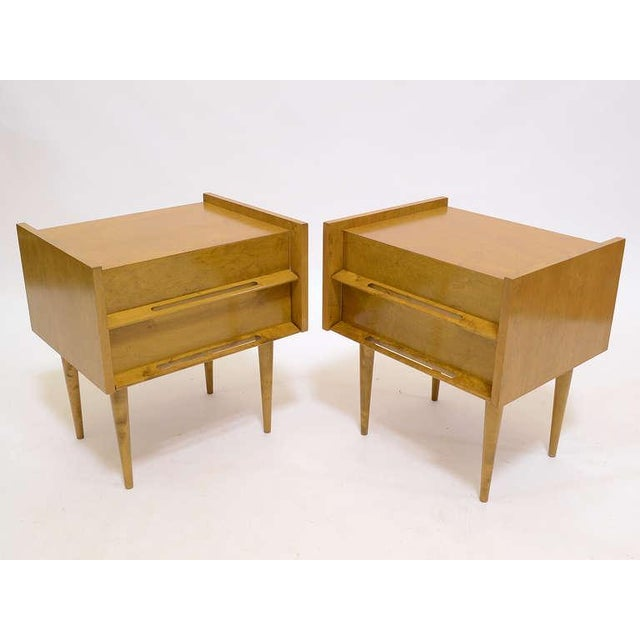 1950s Pair Of Nightstands/ End Tables By Edmond Spence For Sale - Image 5 of 8