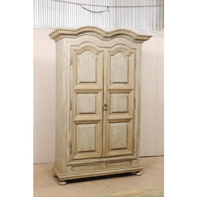 Brazilian Painted Wood Storage Cabinet For Sale - Image 4 of 12