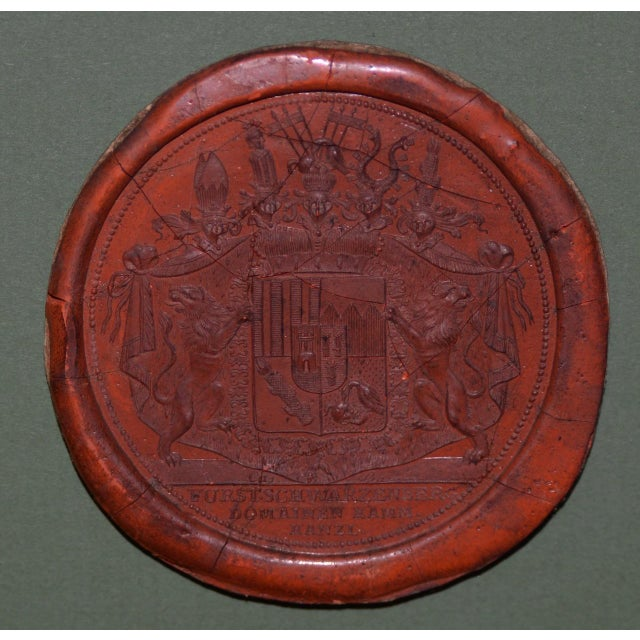 Fine Collection of 19th Century Wax Seals For Sale - Image 9 of 12