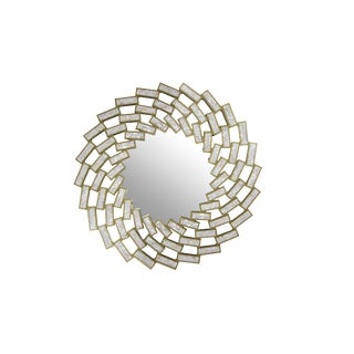 Mother of Pearl Gold White Mirror For Sale