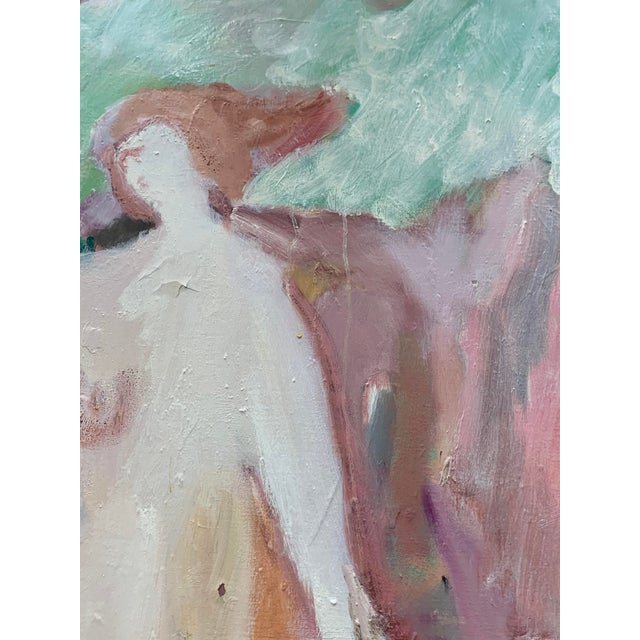 Irving Aronowitz Vintage Oil on Canvas of Two Women For Sale - Image 9 of 10