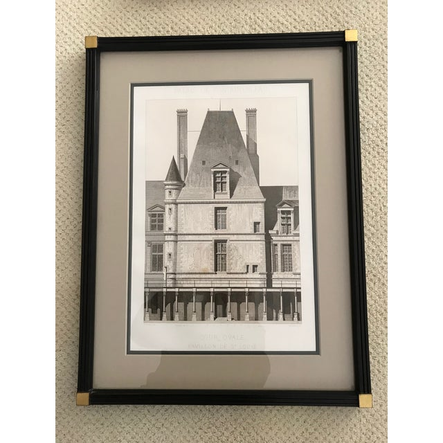 Gold Antique Fontainebleau Architectural Framed Prints - Set of 9 For Sale - Image 8 of 13
