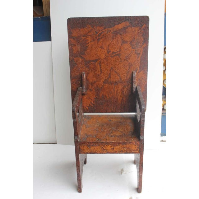Folk Art Hand Made Wooden Chair/Table - Image 6 of 6