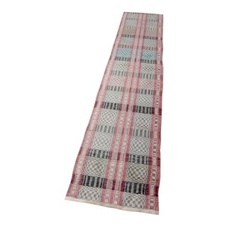 Scandinavian Rag Rug Runner Circa 1920 For Sale