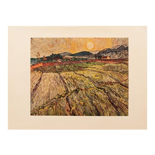 1950s Van Gogh, First Edition Lithograph After Landscape With Ploughed Fields For Sale