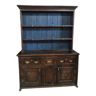 18th Century English China Cupboard Cabinet For Sale