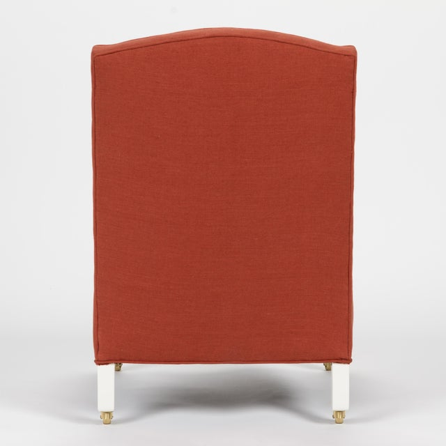 Casa Cosima Casa Cosima Sintra Chair in Paprika Linen, a Pair For Sale - Image 4 of 11