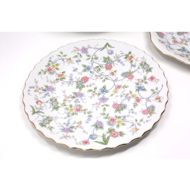 """Vintage """"Corona"""" Floral Chintz Serving Pieces by Sadek - Set of 3 For Sale - Image 4 of 11"""