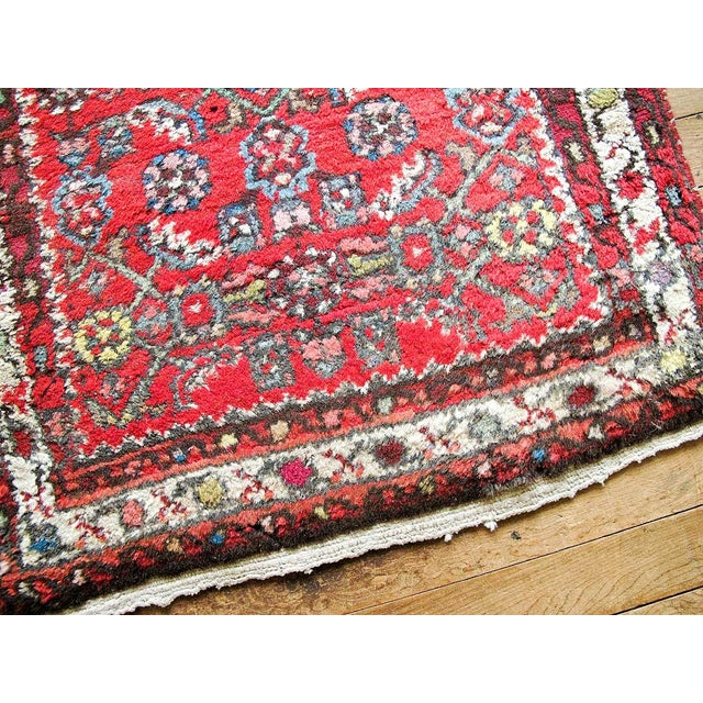 """Red Boho Chic Persian Rug - 1'11"""" X 3' - Image 5 of 7"""