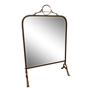 Antique Mirrored Fire Screen For Sale