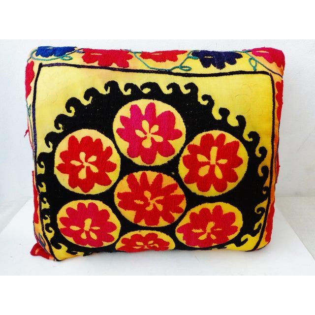 Vintage Uzbek Suzani Pillow - Image 2 of 8
