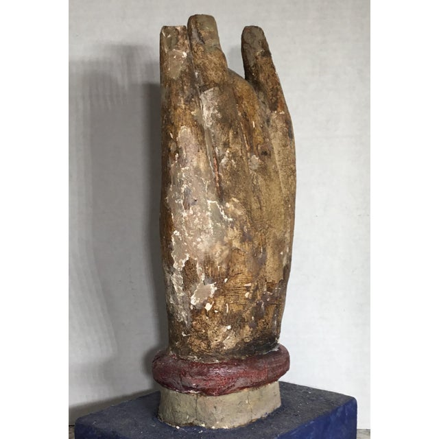 Chinese Wood Buddha Hand Carving For Sale In Miami - Image 6 of 10