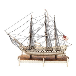 French Prisoner of War Ship Model, Le Héros For Sale