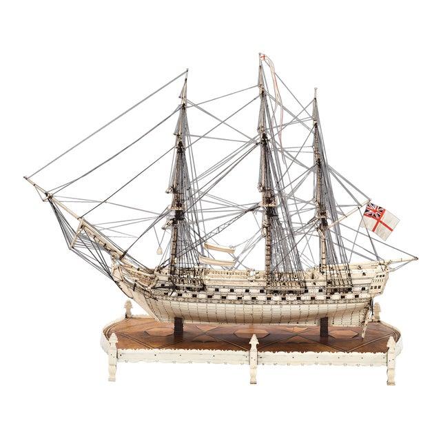 French Prisoner of War Ship Model, Le Héros For Sale