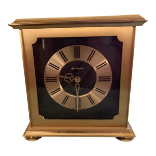 Vintage Brass Mantle Clock For Sale