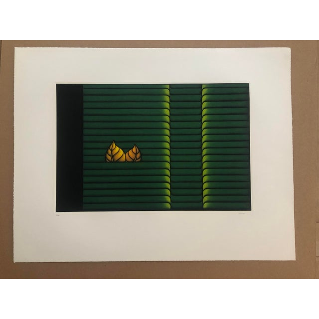 Kazuhisa Honda (born 1948) Two Leaves, 1980s Mezzotint, image: 17 5/8 x 11 5/8 inches numbered 13 of 95