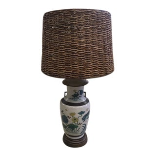 Vintage Asian Style Table Lamp For Sale