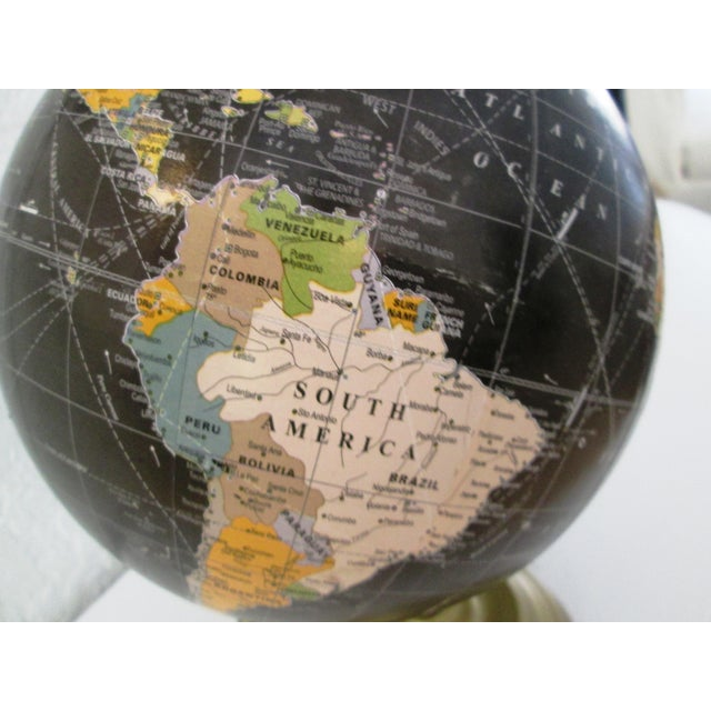 Black Spinning World Globe - Image 7 of 8