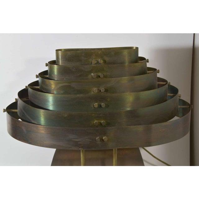 Art Deco Art Deco Machine Age Kurt Versen Bronzed Streamline Table Lamp For Sale - Image 3 of 8