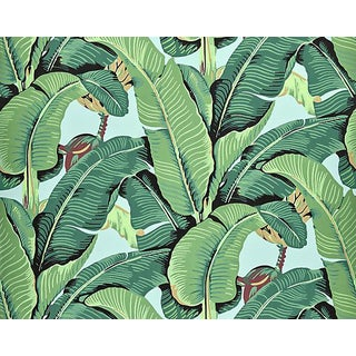 Hinson for the House of Scalamandre Hinson Palm Wallpaper in Sky For Sale