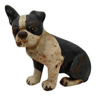 Vintage French Bulldog Cast Iron Doorstop